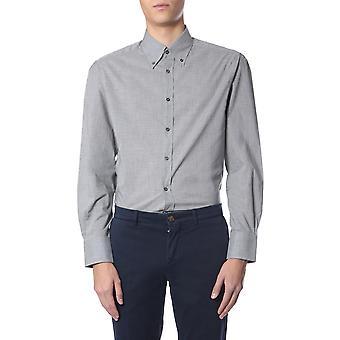Brunello Cucinelli Sr.7161716c043 Men'camisa de algodão cinza
