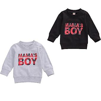 Autumn Baby Boys Sweatshirts Tops, Letter Print, Long Sleeve Outfits