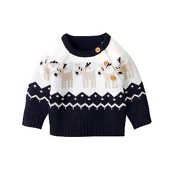 Babys Winter Pullover-casual O Hals Langarm Strickbekleidung