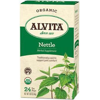 Alvita Teas Organic Herbal Tea, Nettle Leaf 24 BAGS