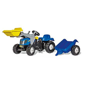 Rolly toys kids new holland T7040 tractor with frontloader & trailer for 2.5 - 5