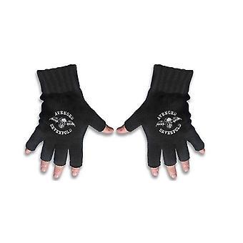 Vengados de Sevenfold guantes muerte Bat cresta Band Logo nuevo negro oficial de Fingerless