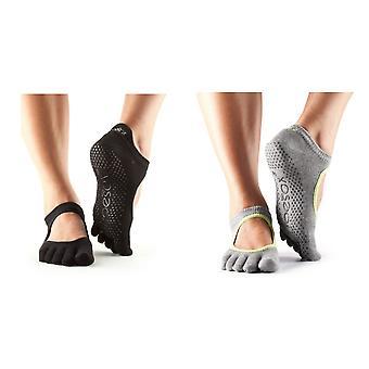 Toesox Unisex Adult Bellarina Toe Socks