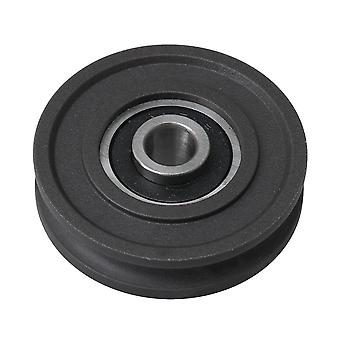 8x45x11.5mm 6000 Bearing Rail Pulley Passive Groove Rolloer Wheel Black