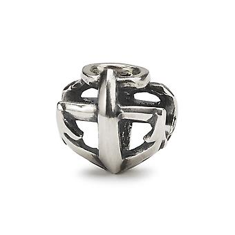 Trollbeads Sterling Silver Faith, Hope & Love Bead TAGBE-10248