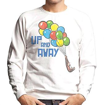 Curious George Up And Away Balloons Men's Sweatshirt