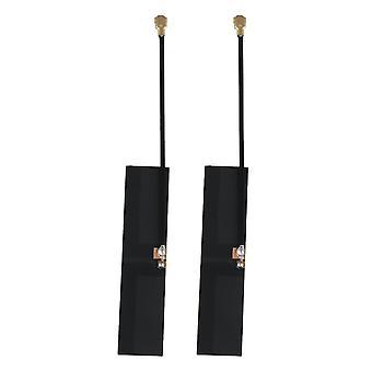 2pcs Black Internal Antenna High Gain IPEX1 4.5x1.0cm Wire Length 6 cm