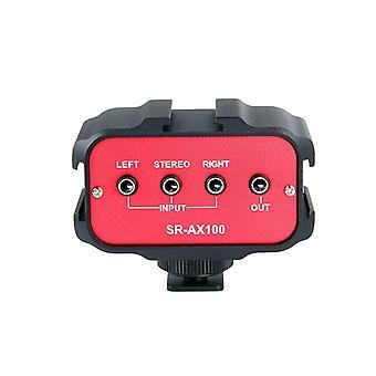 Saramonic sr-ax100 universell ljudadapter med stereo & dubbla mono 3,5 mm-ingångar för DSLR-kameror & C