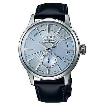 Seiko SSA343J1 Presage Blue & Black Leather Automatic Men's Watch
