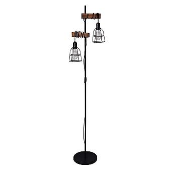 Italux Ponte - Industrial And Retro Floor Lamp Black 2 Light , E27