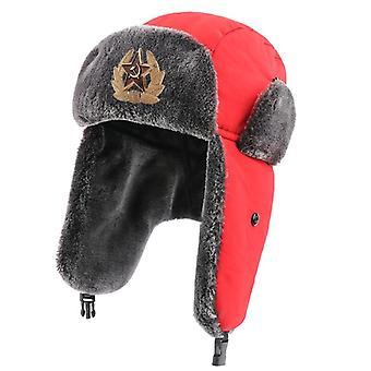 Vízálló bomber kalapok, pilóta trapper trooper téli faux nyúl szőrme earflap