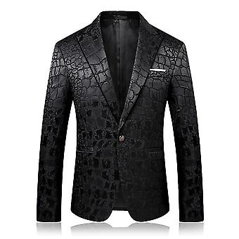 Male Casual Jacquard Blazers, Men Veste Costume