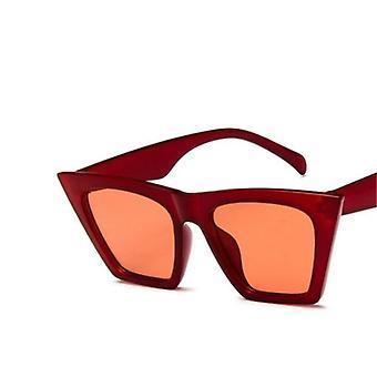 العلامة التجارية الجديدة النظارات الشمسية مربع نظارات شخصية القط عيون ملونة الاتجاه