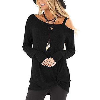 Womens Fashion Langarm, Off The Shoulder Pullover, Batwing, übergroße stricken