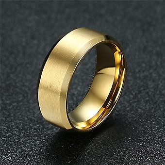New Fashion 8mm Classic Ring Male Stainless Steel Jewelry Wedding For Man