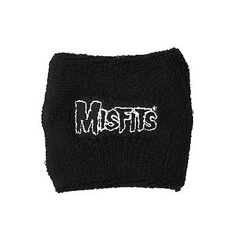 Misfits band Logo New Official black Cotton Sweatband