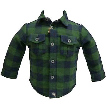 Timberland Childrens Over Shirt Top Button Up Plaid Capuchon Top T2D39 686 R7F