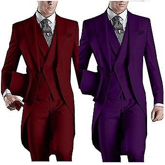 Groomsmen Frak obleky kalhoty vesta