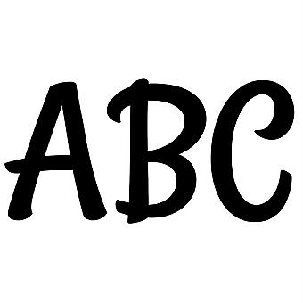 """Stylish Black 2"""" Uppercase Letter Stickers, 83 Pieces"""