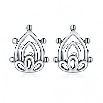 Silver Earrings Lotus Flower - 6992