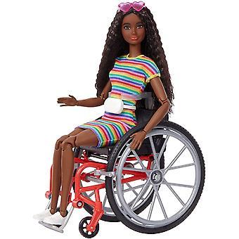 Barbie Fashionistas Baba #166 barna baba kerekesszékkel