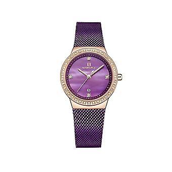Naviforce Ladies Homage Quartz Watch Purple Rose Gold Dress Watches Fashion Designer