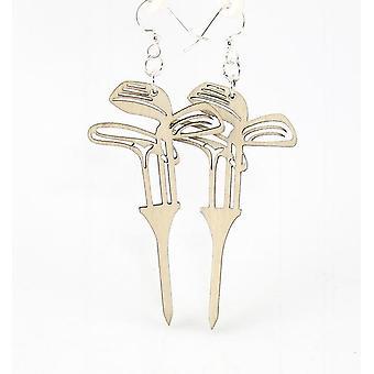 Golf Set On Tees Earrings