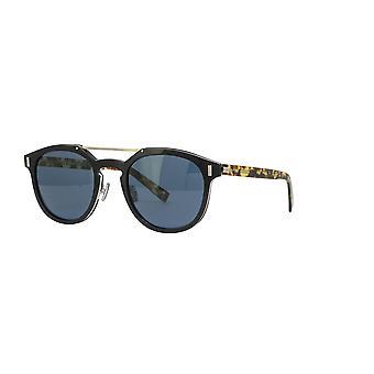 Dior Homme Blacktie 2.0S M WR7/KU Черная Гавана/Синие солнцезащитные очки