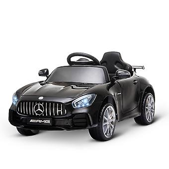 HOMCOM Compatible 12V Battery-powered Kids Electric Ride On Car GTR Toy with Parental Remote Control Music Lights MP3 Suspension Wheels for 3-5 Years Old Black