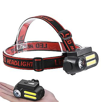 XANES NF-611 LED + 2COB 650LM 4 Modes Headlamp 90Rotatable Multifunctional USB Rechargeable Headlamp