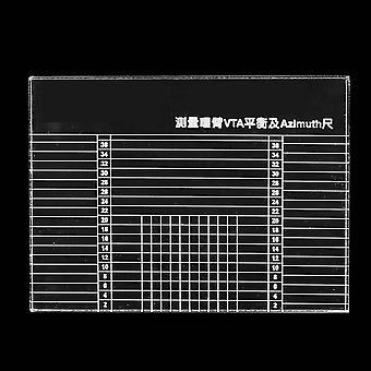 LP Vinyylilevysoitin mittaa azimuth-viivainta Phono Tonearm VTA -kasettia