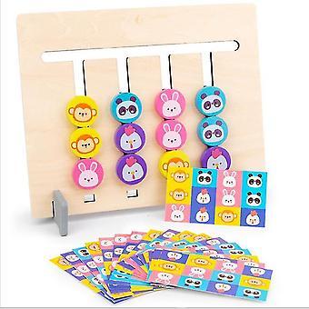 Vierfarbige Frucht Tier Logik Spiel 0.3 Doppelseitige Kinder 's pädagogisches Spielzeug geeignet für Altersgruppen über 12 Monate
