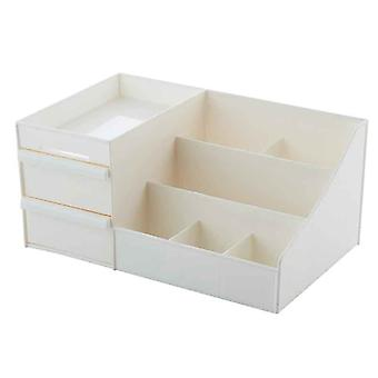 Drawer Type Makeup Box, Cosmetic Storage, Pure Color, Simple Style, Container