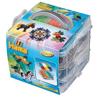 Aktivitetsuppsättning för Hama 6000 pärlor och 3 pegboards