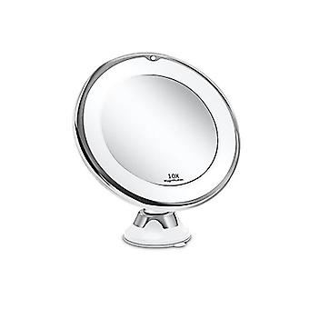 Makeup mirror with 10x magnifying glass led light emitting flexible makeup mirror portable dressing table makeup mirror