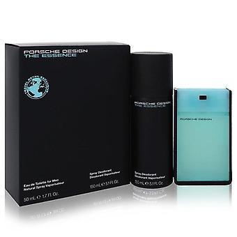 The Essence Gift Set By Porsche 1.7 oz Eau De Toilette Spray + 5.1 oz Deodorant Spray