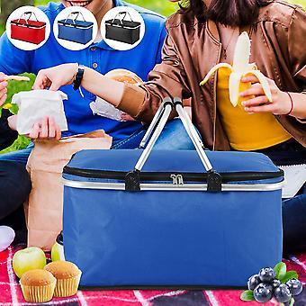 Frokost tasker Folde Picnic Isoleret Køletaske Cool Hæmme Opbevaring Kurv 32L Camping Bag Box Udendørs Portable Picnic Basket
