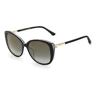 Jimmy Choo Asian Fit ALY/F/S AE2/FQ Black Gold Glitter/Grey Gradient Gold Mirror Solglasögon