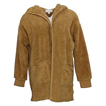 Koolaburra by UGG Women's Sweater Shaggy Plush Cardigan Brown A386142