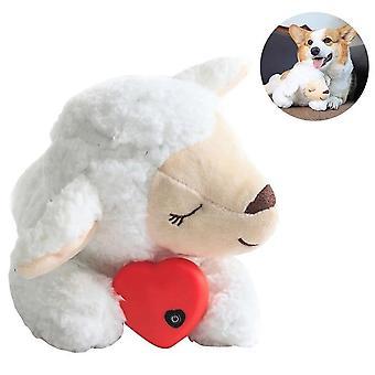 Hund Plüsch Spielzeug komfortable Verhaltenstraining Hilfe Herz schlagen beruhigend für Smart