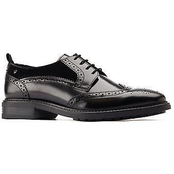 Base london men's lennox wingtip derby shoe black 31212