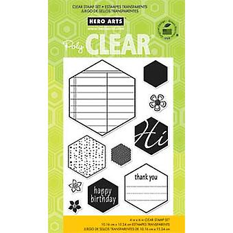 Hero Arts Clear Hexagons 4X6 - Clear Stamps