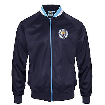 Manchester City Mens Jacket Track Top Retro OFFICIAL Football Gift