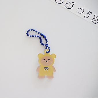 Cute Cartoon Cool Bear Pendant Chain Keychain Earphone Protective Cover Pendant