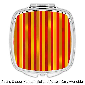 Gift Compact Mirror: Stripes Pattern Abstract