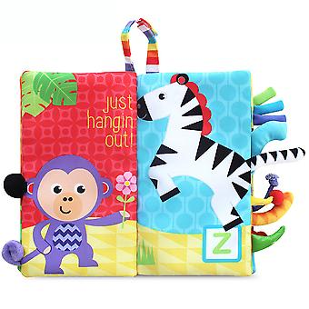 Animals Tail Colorful Interesting Cloth Book With Sound Paper Bb Device Baby Fabric Book