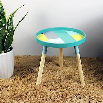 Moderni minimalistinen puu pyöreä kahviteepöytä olohuoneeseen