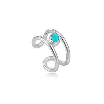 Ania Haie Rhodium Tidal Turquoise Ear Cuff E027-02H