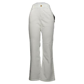 IMAN Global Chic Women's Jeans Illusion Denim Bootcut White 734928100