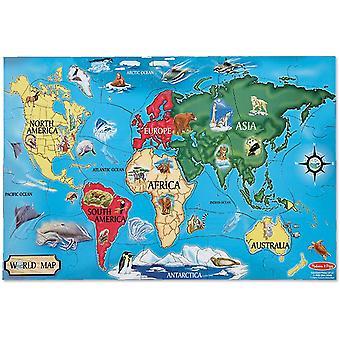 FengChun Melissa Doug 10446 Doug Fubodenpuzzle - Weltkarte (48 Teile)